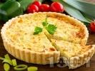Рецепта Киш с праз, шунка с яйца и прясно мляко